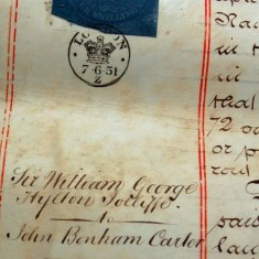 Margin note  Jollliffe to Bonham Carter