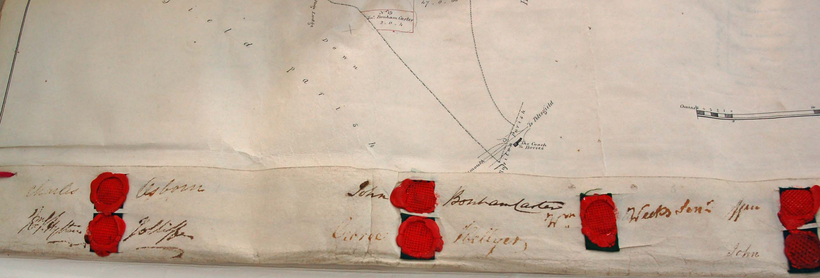 Seals on the 1845 enclosure deed