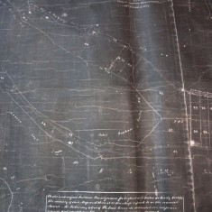 Detail of map showing allotments to  Bonham Carter.