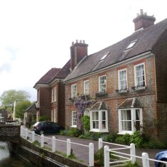 Brooklyn House, East Meon, where Luke Merritt lived.