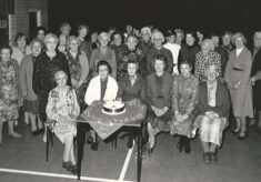 British Legion, cake and group