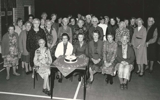British Legion, cake and group