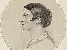 Lithograph of Adelaide Kemble by Richard James Lane