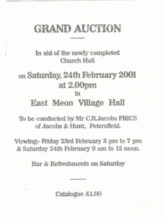 Auction Sale in aid of the Church Hall