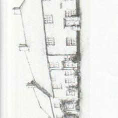 Drawiing of Barnards Corner by Tricia Blakstad