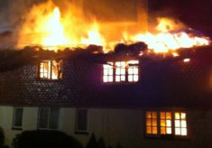 Fire at the Hockley Cottage