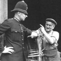 PC Thorne remonstrates with tramp