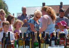 Church fete bottle stall