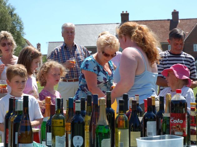 Church fete bottle stall