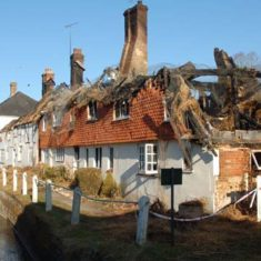 Aftermath of fire at  Hockey and Brook Cottages,March 2013 | Michael Blakstad