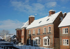 Brooklyn and Glenthorne Houses under snow