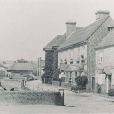 Post card of the High Street, with what are now Francis and Clare Cottages in the right. Brooklyn is next to them and Glenthorne beyond it.