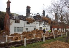 Hockley and Brook Cottages after fire