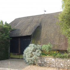 This barn was built in the 17th century, possibly after the Court House and farm were confiscated from the Diocese of Winchesterand later donated by Charles II to Stephen Fox.