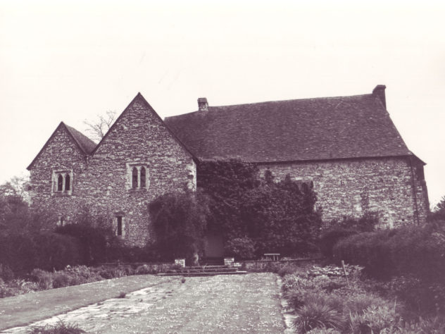 Photographed after Morley Horder had converted the farm yard to a garden.