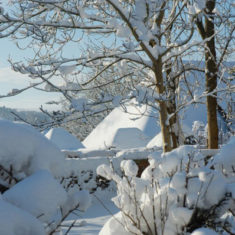 These photographs were taken in January 2010 when the village was blanketed in snow for ten days. | Michael Blakstad
