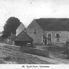 The Hall and farm yard in 1918