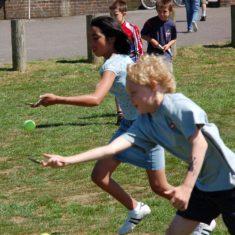 Egg & spoon race (played with tennis balls) | Michael Blakstad
