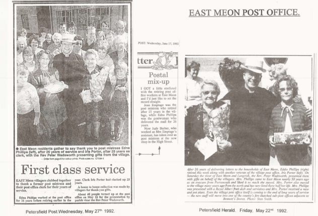 Edna Philips and Iris Porter retire from the Postal Service