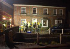Firemen outside Glenthorne