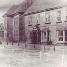 This view of the flooded High Street is from the album of '50s photos at Ye Olde George.