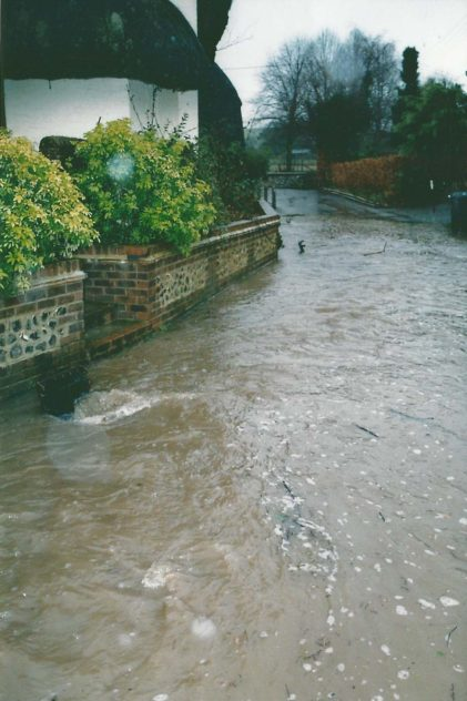 Flooding continued, particularly in Frogmore, into the new millennium.