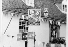 Ye Olde George Inn with bunting