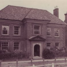 The front of Glenthorne house, date unknown. The brickwork is typical of the William and Mary period