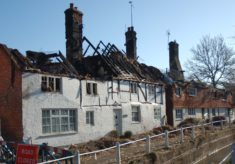 Hockley and Brook Cottages after the 2009 Fire
