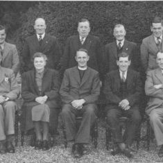 Seated in the Committee photograph are: Lady Margaret Nicholson, the last of the Nicholson 'Gin' family to live at Bereleigh, (sitting second left) was reported to be a very strong lady in her own right and could get her own way, and saw that the Village Institute & Library was well run.  Others  were, (from left to right back row), W (Weary) Blackman from Drayton who worked at Bereleigh Estate on the farm side, Herbert (Herbie) Goddard who ran the garage and petrol pump from the yard of Glenthorne House. Jack Porter who was the caretaker and Librarian and worked for the Ministry of Defence at Liphook.  He was brother-in-law to Iris Porter.  Frank Collyer, leader of the Home Guard and father of Margaret Tosdevine.  He was a wood turner by trade. Finally, standing at the end of the row Rece Porter (husband to Iris).  He was a Postman and assisted his brother looking after the Institute.