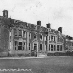 Although the post card reads 'West Meon', and the House is very close to the village of West Meon, it is in the parish of Eaat Meon.  | Jane Manners
