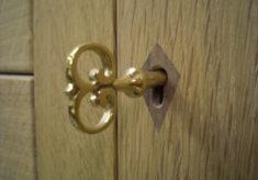 Lock escutcheon and a handmade key