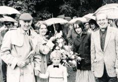 Michael Redgrave opening village fete