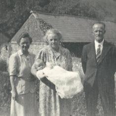 Mrs Hastie, Ada Louise Lambert (wife of William Hope Lambert),Baby Nicola Lambert, Uncle Leslie Lambert