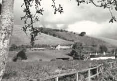 Old School and fields, and Forgmore Cottages