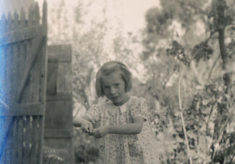 Olivia Woodfield as a young girl