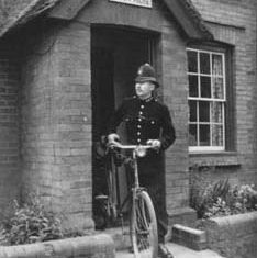 Outside Police House, probably then in The Hyde
