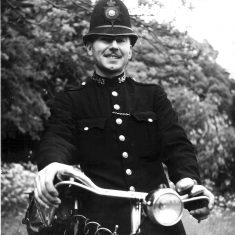 PC Dennis Thorne with his bike
