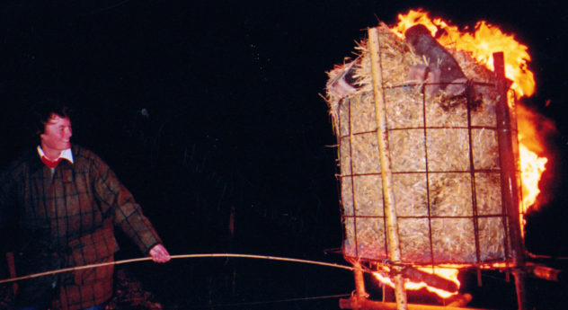 Golden Jubilee Celebrations - a beacon is lit by  Philippa Tyrwhitt-Drake on Park Hill     Michael Blakstad