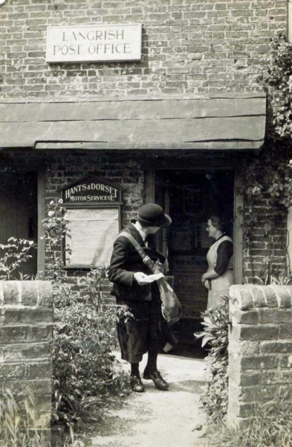 Post Mistress at Langrish Post Office