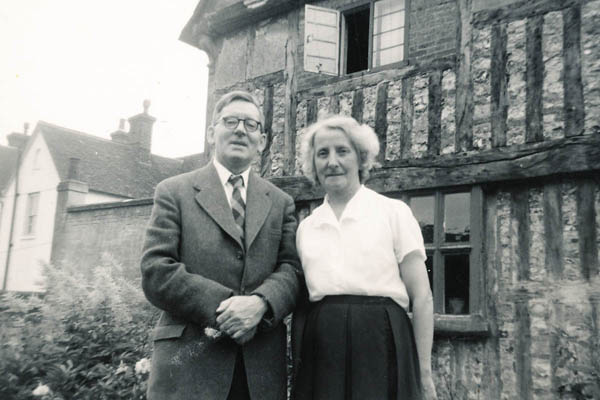 Ralph and Ruth Woodfield at Tudor House