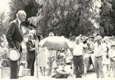 Alec Douglas Home opening the Church fete