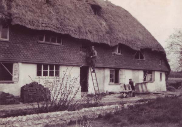 Thatching the Hockley Cottage Roof