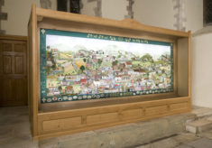 The Millennium Tapestry is mounted in its frame