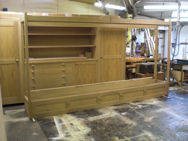 The Display Cabinet is erected in the Workshop