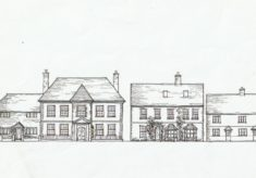 Sketch of Glenthorne and Brooklyn Houses by Tricia Blakstad