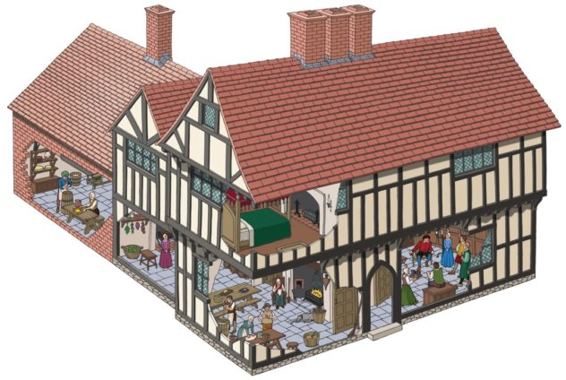3D recreation of life in 1580s in what was then the home of Nicholas Wright who had converted the previous Hall House (tree-ring dated to 1333).  | Julian Baker