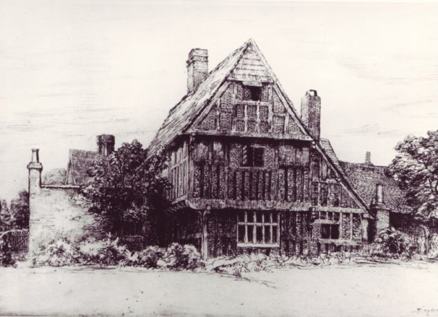 Dryden Print of Tudor House