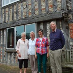 (R to L)Christopher and Jane Cobley, owners 2011 - 2019 with Tricia Blakstad (1981 - 2011) and Olivia Tottle