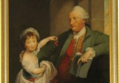 Viscount Gage with daughter Susanna Beach